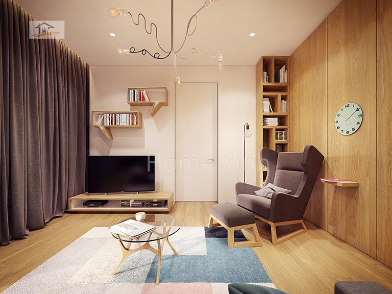 thiet ke noi that phong khach 03 - Trang trí nội thất phòng khách nhỏ xinh, gọn gàng 20m2