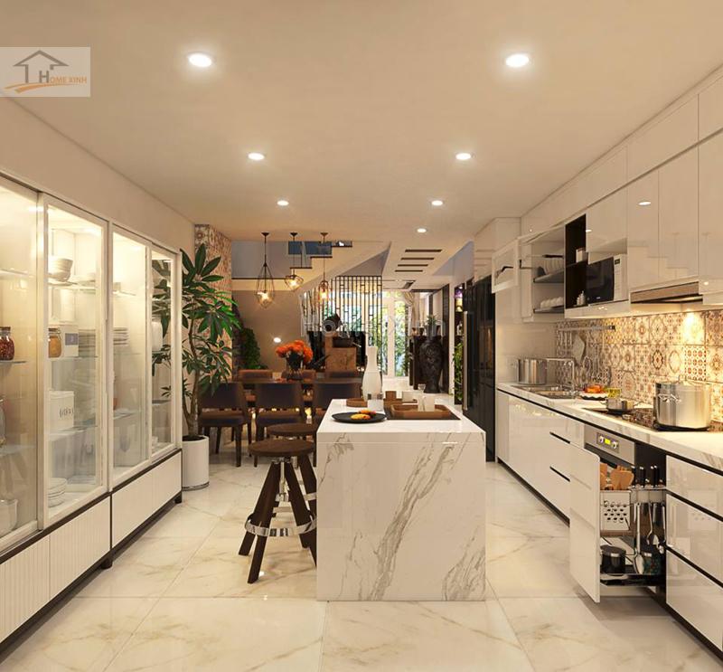 Mẫu thiết kế nội thất nhà phố hiện đại tại Mễ Trì, Hà Nội - 219552