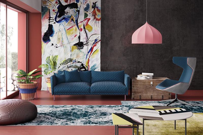 10. Phòng khách đầy màu sắc trẻ trung