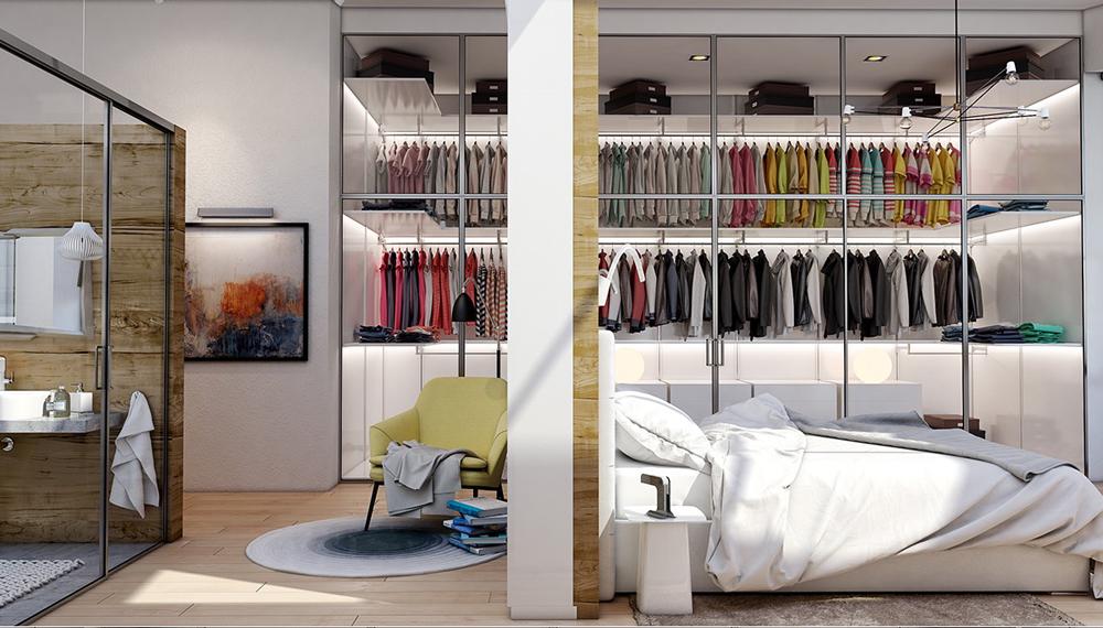Tủ quần áo đẹp chứa được nhiều đồ