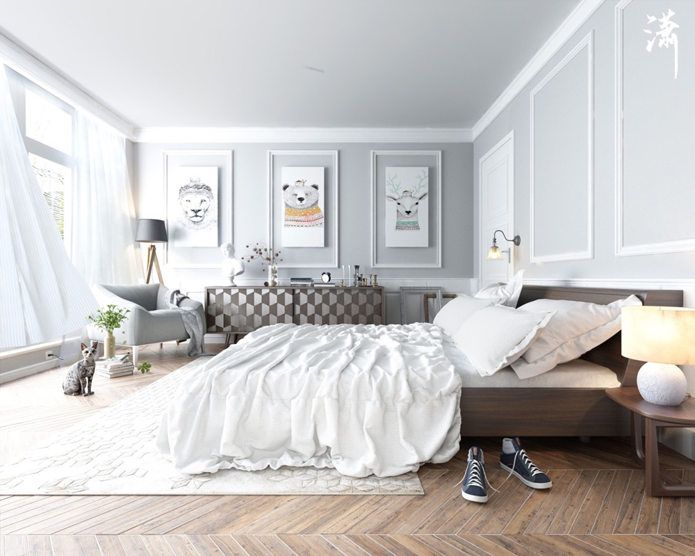 20. Phòng ngủ này đẹp, sang trọng