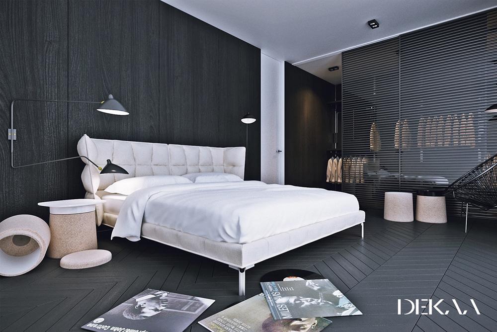Mẫu phòng ngủ này rất hiện đại, với các tông màu và các chi tiết sản phẩm rất chất