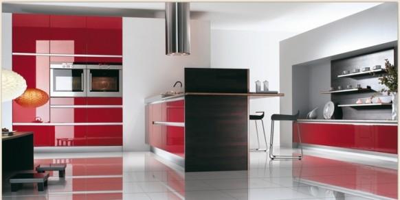 13. Phòng bếp thiết kế thoáng đáng đẹp với chất liệu Acrylic