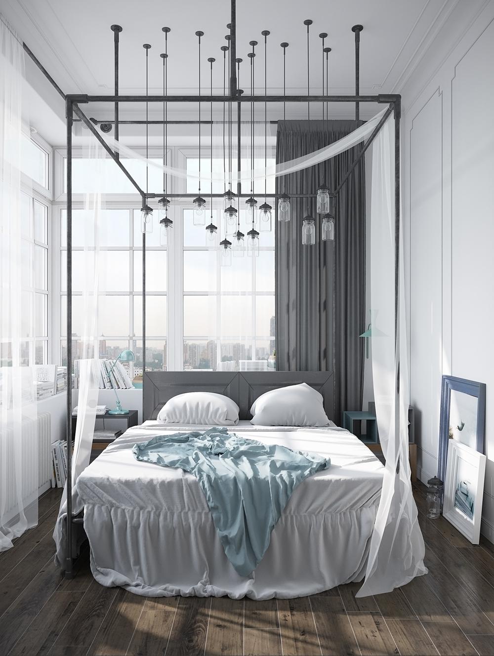 17. phong cách Scandinavian phòng ngủ giản đơn