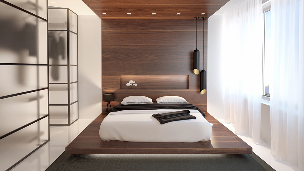 Phòng ngủ ấn tượng với sự kết hợp giữa màu sắc và ánh sáng