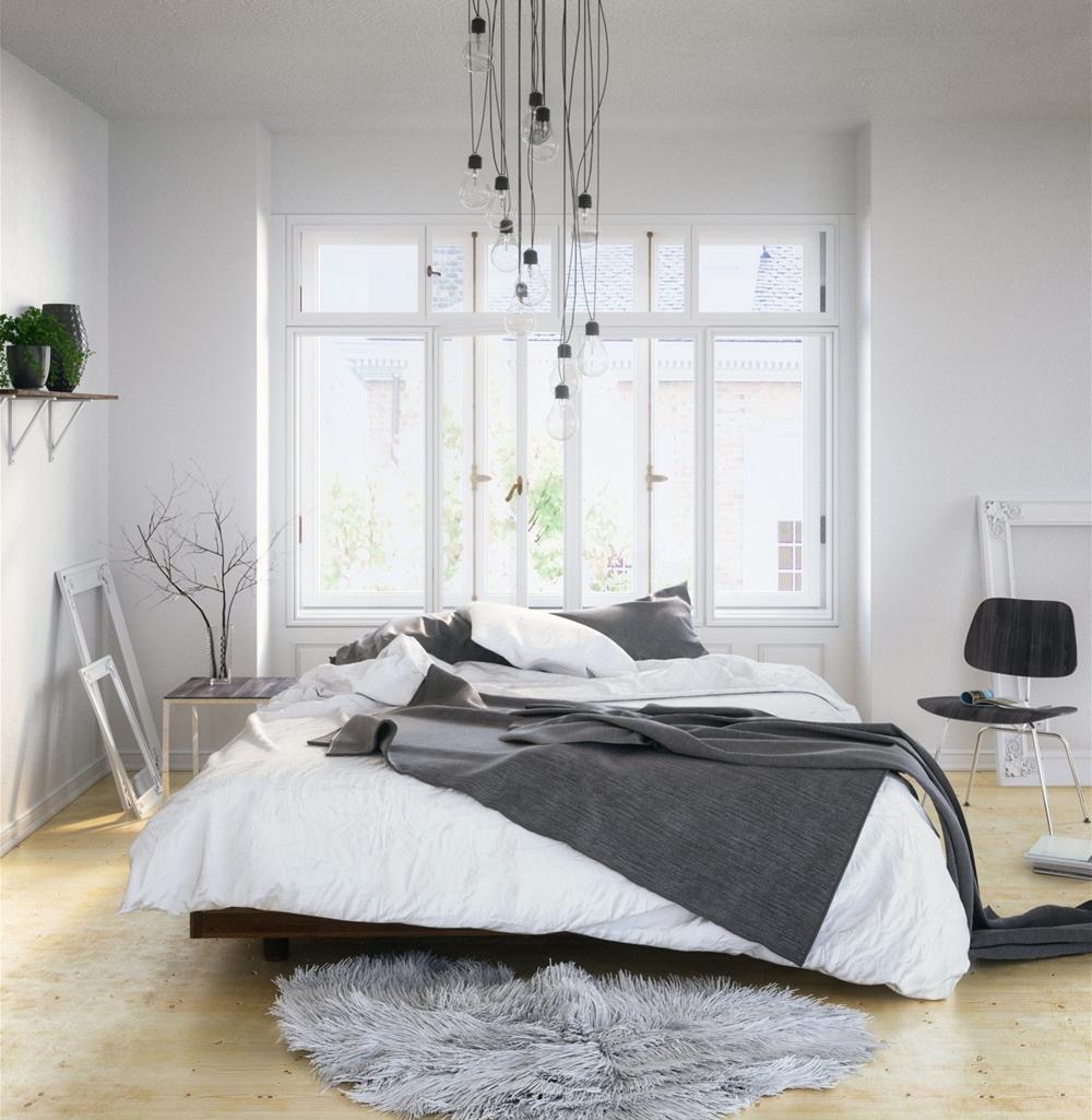 10. Mẫu phòng ngủ đơn giản, chan hòa ánh sáng