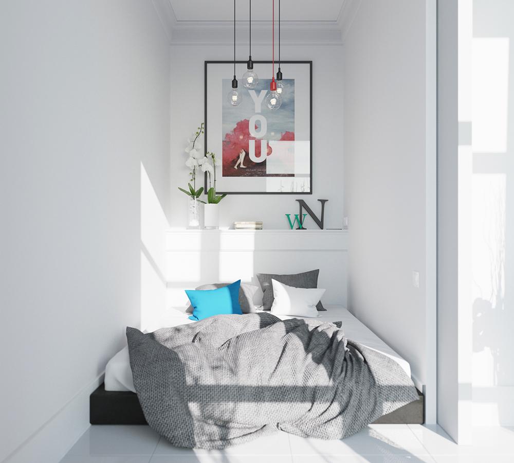 5. Phòng ngủ nhỏ với phong cách Scandinavia