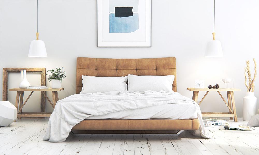 4. Thiết kế phòng ngủ với giường đệm ấn tượng và được deco lạ mắt