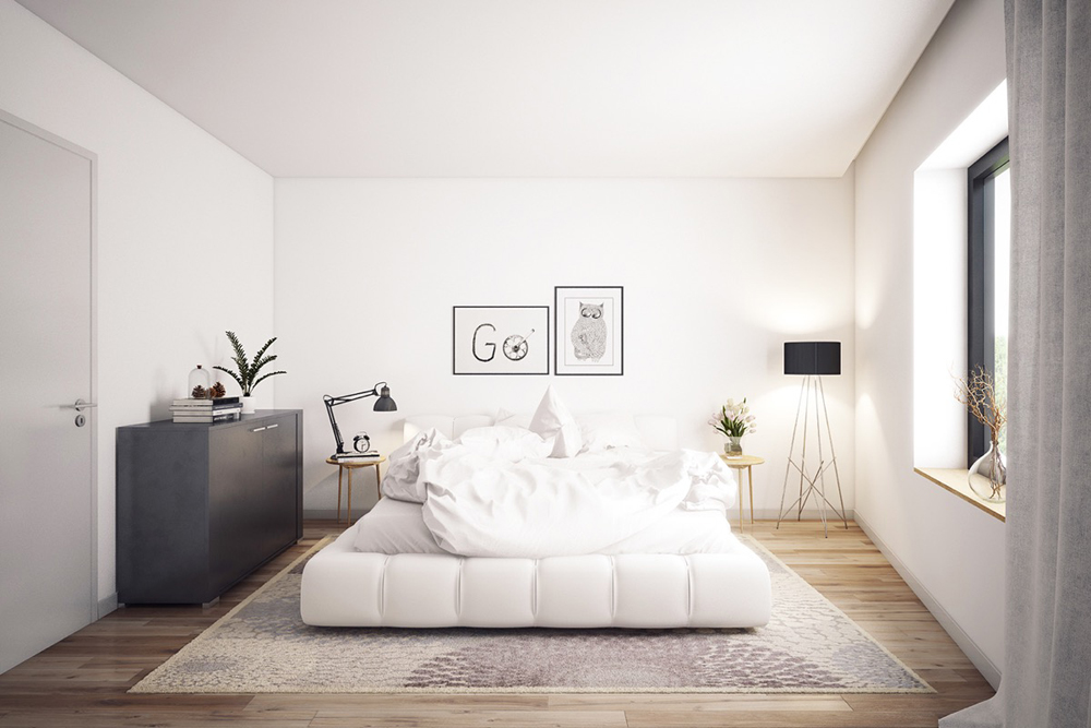 3. Mẫu phòng ngủ nhỏ gọn đơn giản