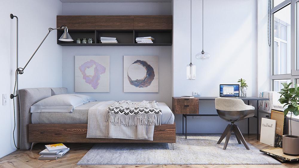 26. Căn phòng được thiết kế tiện nghi và đẹp