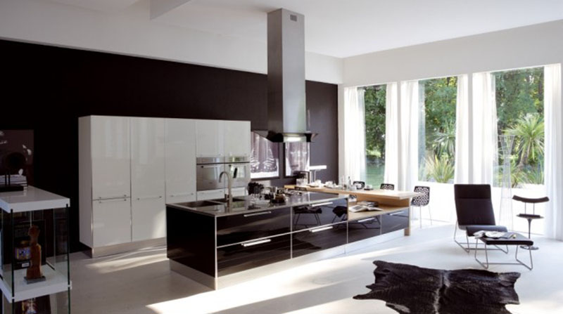 4. Bếp đẹp hiện đại phù hợp cho các biệt thự và nhà rộng