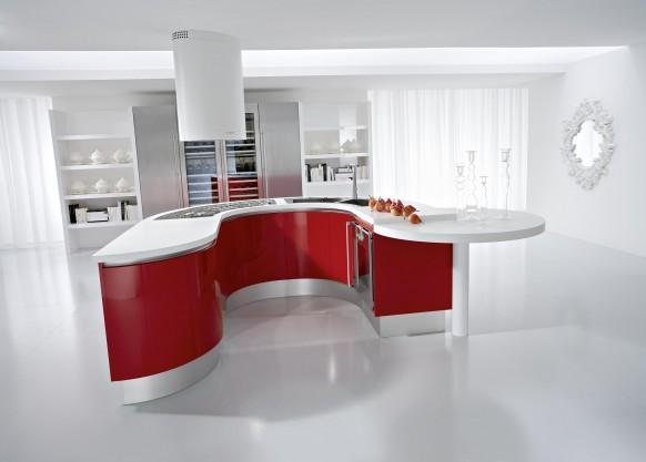 7. Tủ bếp được thiết kế lạ mắt và cá tính