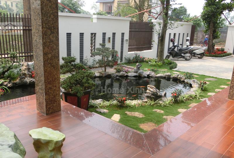 Hình 01: Ao cá cảnh ngôi biệt thự tại thành phố Việt Trì, tỉnh Phú Thọ