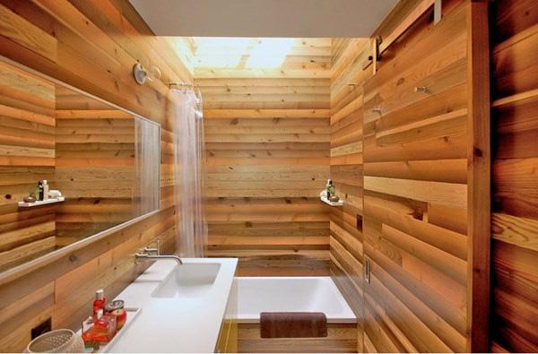 Phòng tắm bằng gỗ này sẽ phù hợp với bất kỳ không gian thiết kế nào theo phong cách Nhật