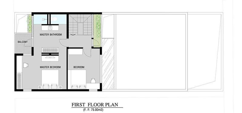 Mặt bằng thiết kế nội thất nhà ở cá tính - ảnh 2