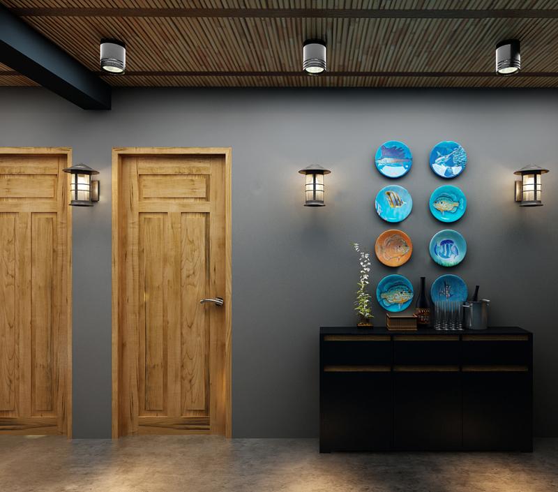 """Mẫu nội thất nhà hàng biển xanh """"seafood BQQ"""" - Hình 03"""