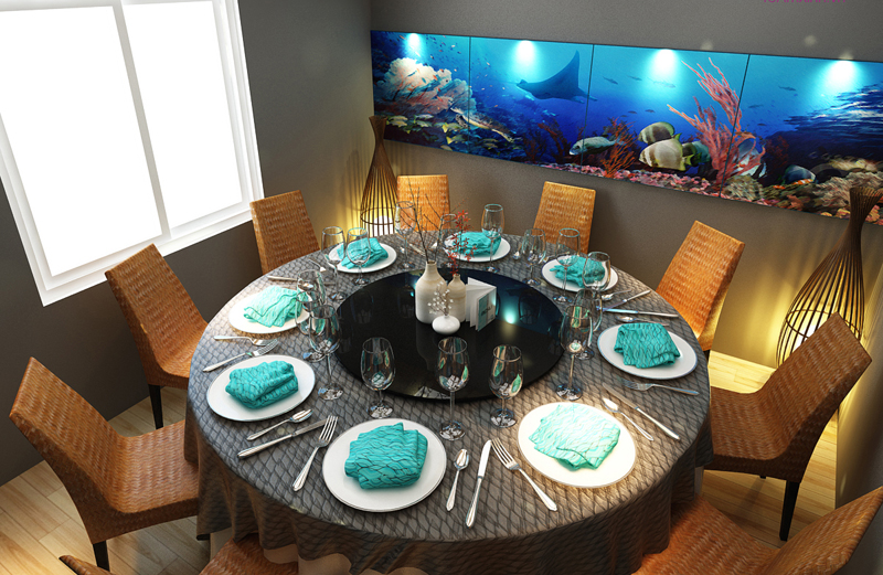 """Mẫu nội thất nhà hàng biển xanh """"seafood BQQ"""" - Hình 13"""