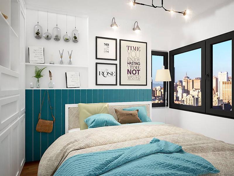 Hình ảnh nội thất phòng ngủ trẻ trung hiện đại 01