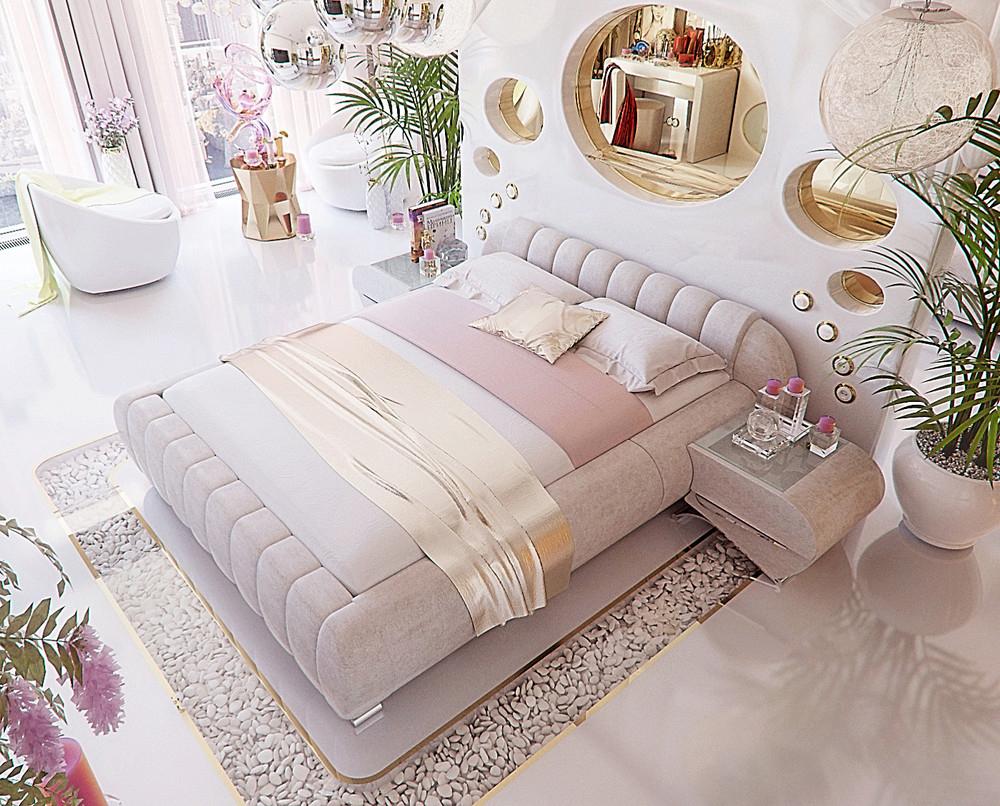 Trang trí phòng ngủ với đồ nội thất cao cấp