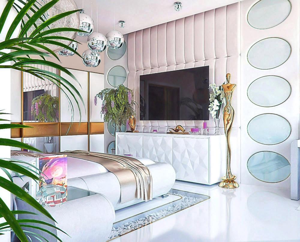 Thiết kế phòng ngủ đầy đủ chức năng