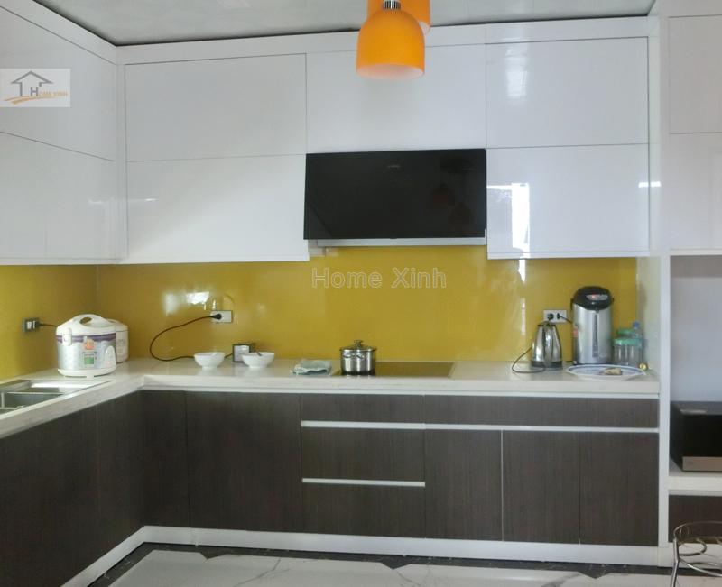 Hình 01: Thi công nội thất phòng bếp biệt thự
