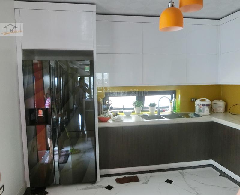 Hình 02: Thi công nội thất phòng bếp biệt thự