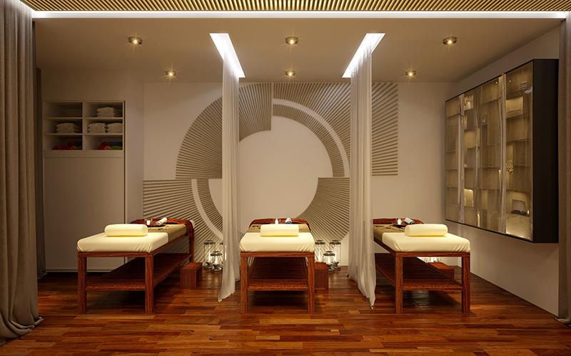 Không gian căn phòng spa được thiết kế ấm cúng