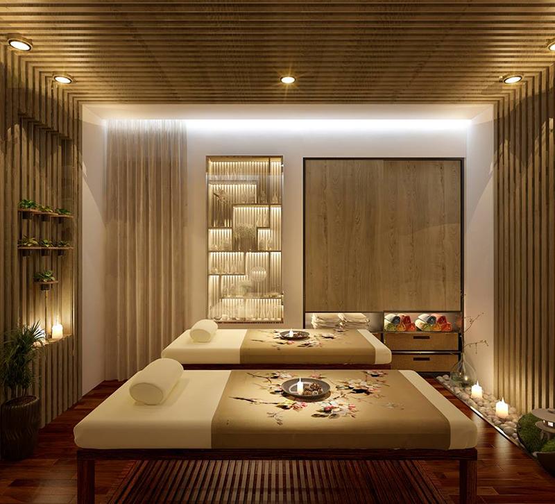 Chất liệu gỗ được sử dụng khá nhiều trong căn phòng