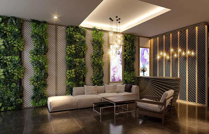 Thiết kế nội thất phòng sảnh ngoài ngồi thư giãn