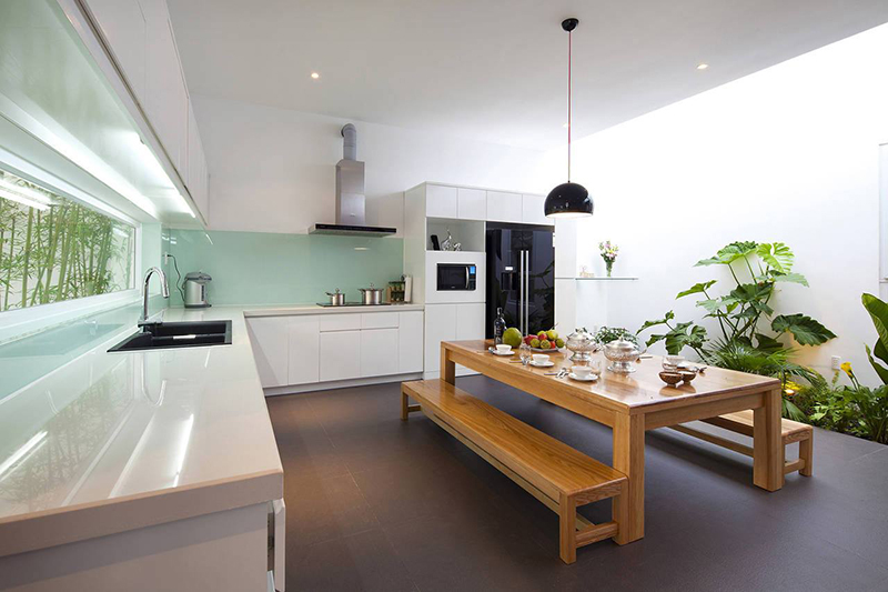 Nội thất nhà ở đẹp, cá tính - phòng bếp