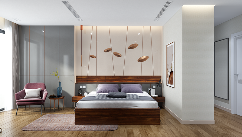Hình 02: Mẫu phòng ngủ đẹp và cá tính cho các bạn muốn thiết kế phòng ngủ
