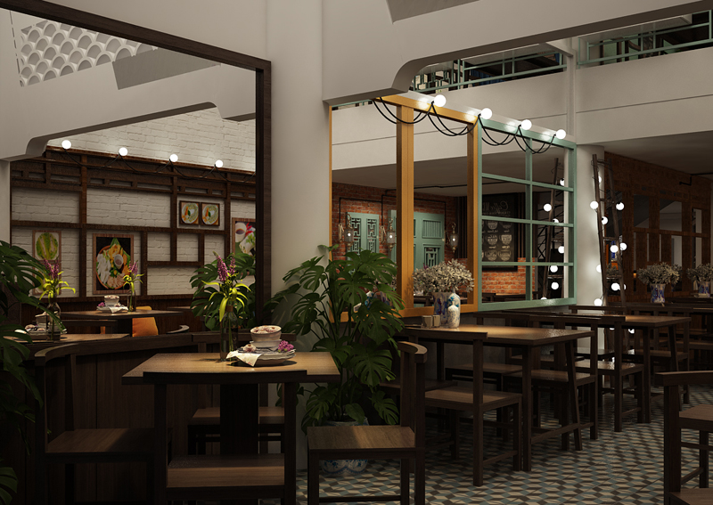 thiết kế nhà hàng 3 tầng đẹp