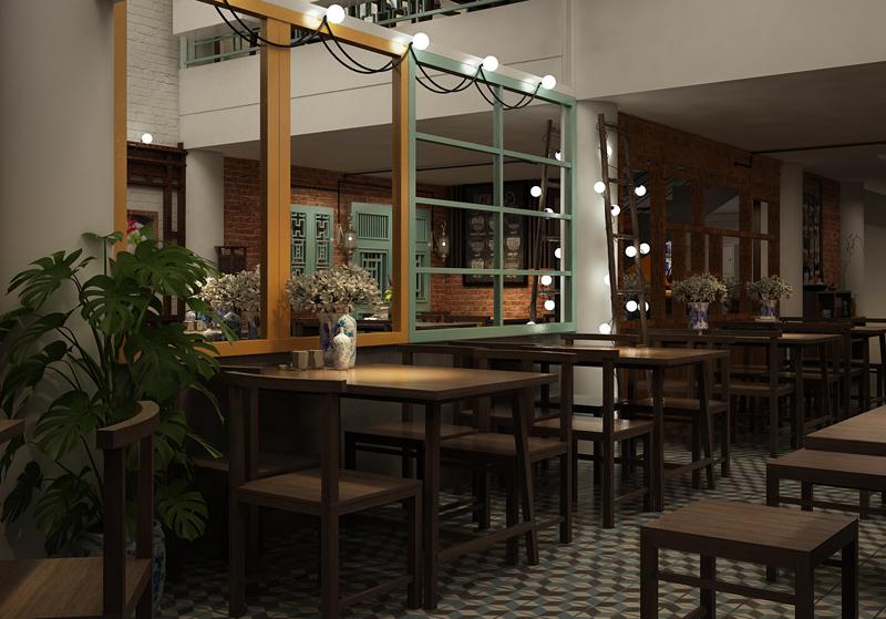 Thiết kế nhà hàng lung linh với những bóng đèn led