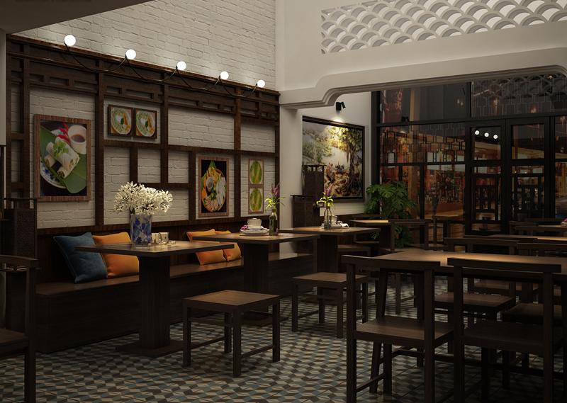Thiết kế nội thất nhà hàng sang trọng, độc đáo