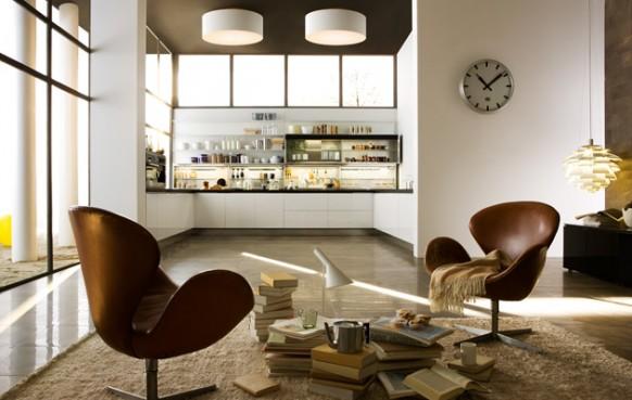 1. Tủ bếp không gian mở được thông với phòng khách