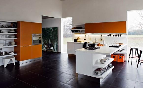 6. Không gian tủ bếp thoáng đáng, phù hợp cho các căn nhà lớn