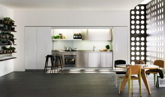 9. Mẫu tủ bếp đẹp tiện nghi và hiện đại rất phù hợp cho các gia đình trẻ