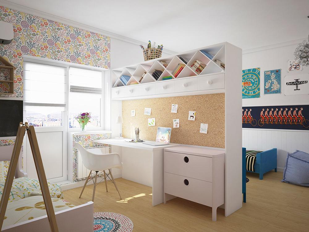 thiết kế phòng học cho bé