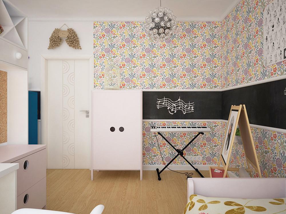 thiết phòng ngủ cho bé gái