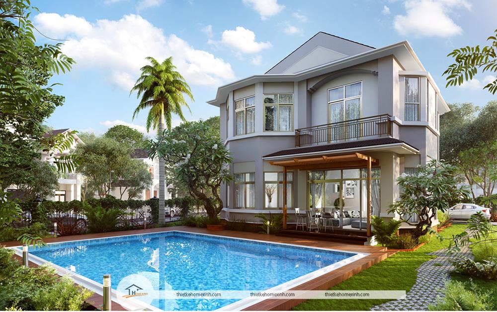 Thiết kế kiến trúc căn biệt thự Beverly Hill Lương Sơn Resort