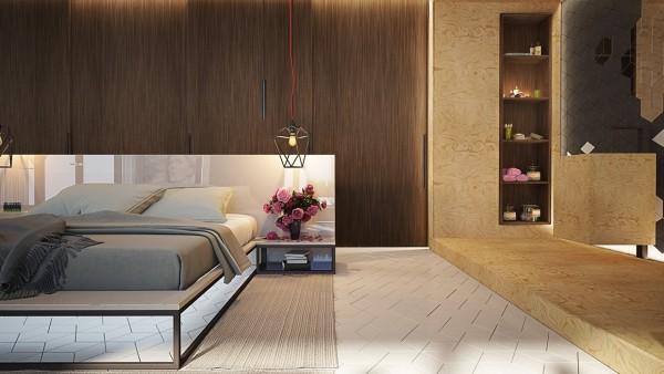 Thiết kế phòng ngủ thông thoáng, rộng rãi