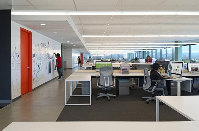 Thiết kế văn phòng đẹp rộng rãi, thông thoáng