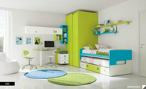 16. Giường tầng là giải pháp hữu hiệu nhất cho những gia đình có 2 bé