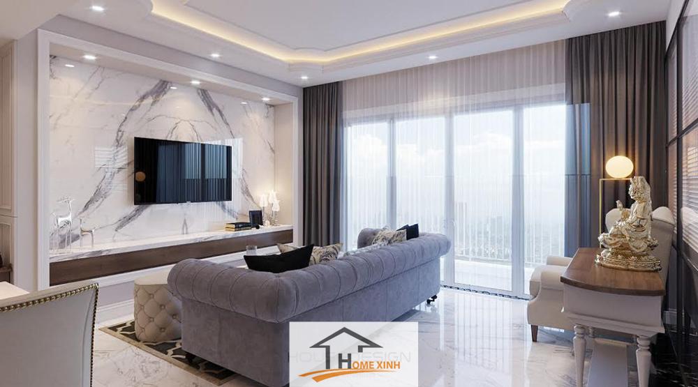 Thiết kế nội thất biệt thự với gam màu trung tính
