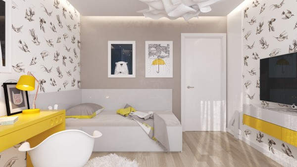 màu sắc trong phòng ngủ bé