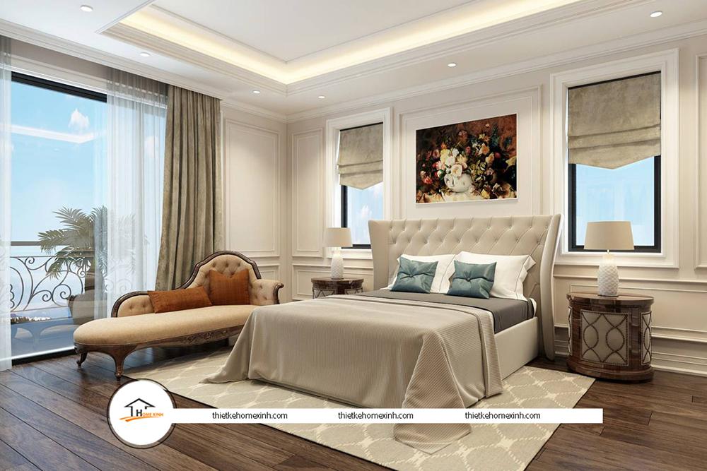 Thiết kế nội thất phòng ngủ hiện đại tại biệt thự Tiên Du, Bắc Ninh - 220119
