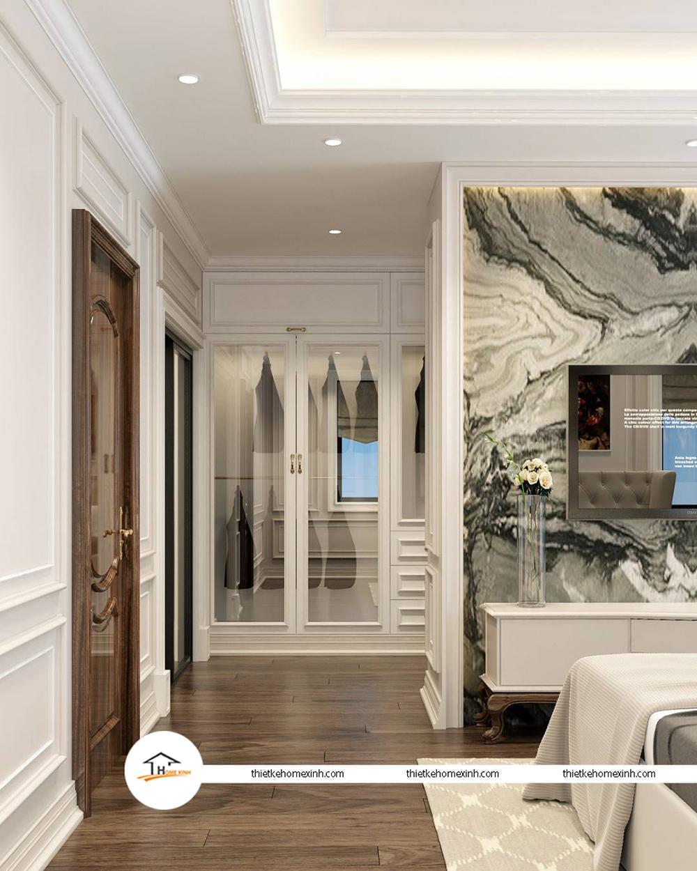 Thiết kế nội thất phòng ngủ hiện đại tại biệt thự Tiên Du, Bắc Ninh - 220121