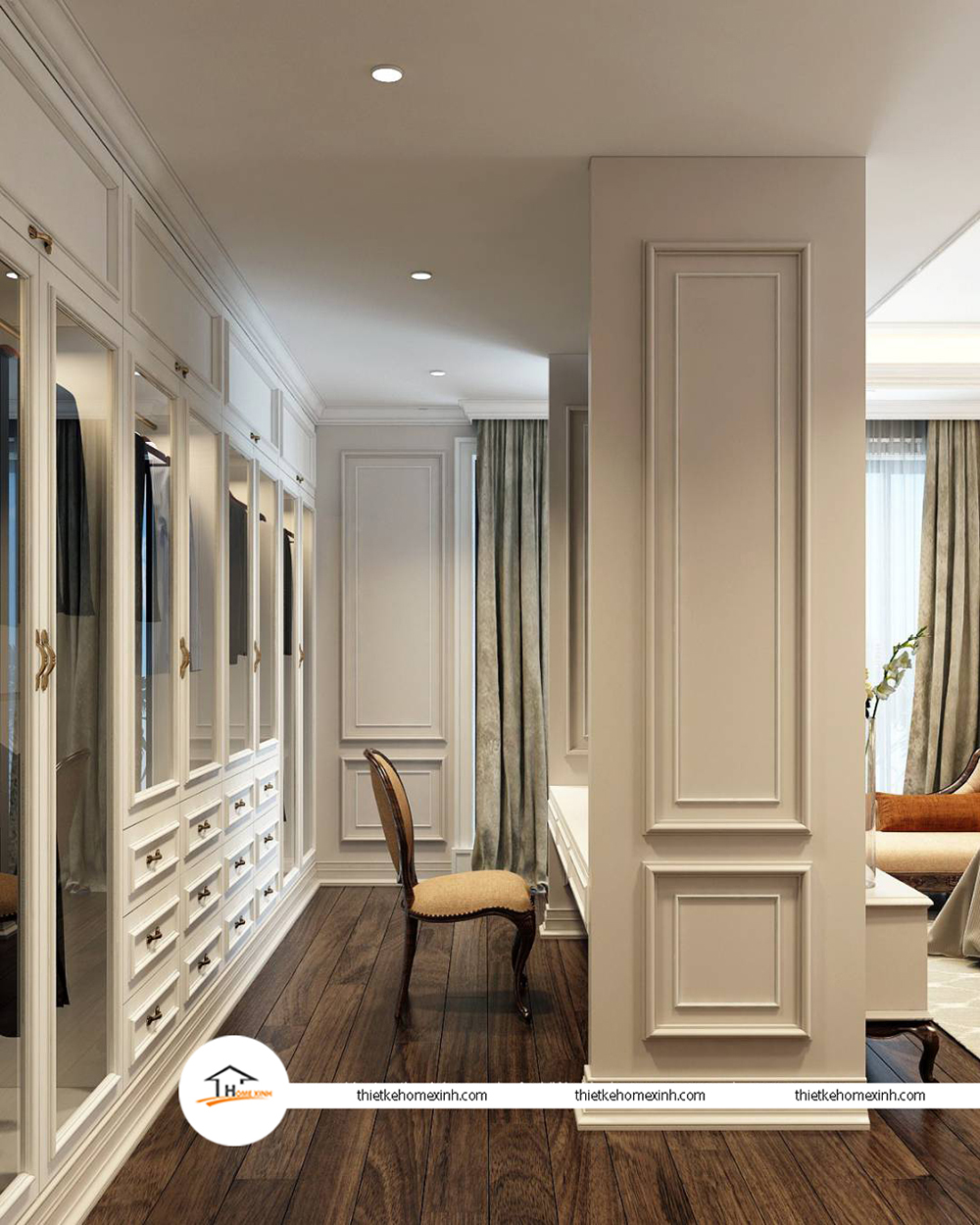 Thiết kế nội thất phòng ngủ hiện đại tại biệt thự Tiên Du, Bắc Ninh - 220122