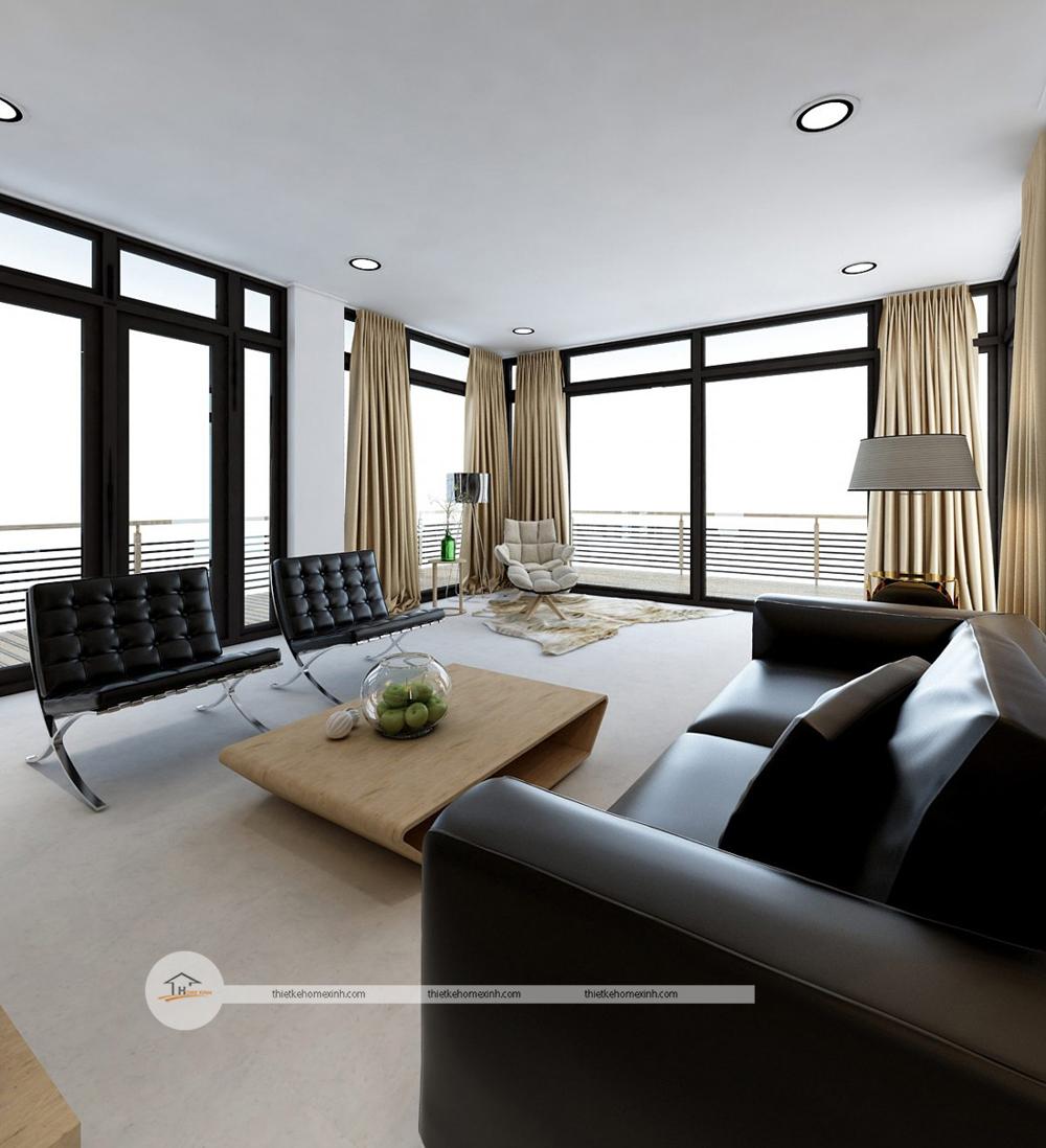 Ngắm nhìn thiết kế nội thất nhà phố hiện đại tại Nam Định
