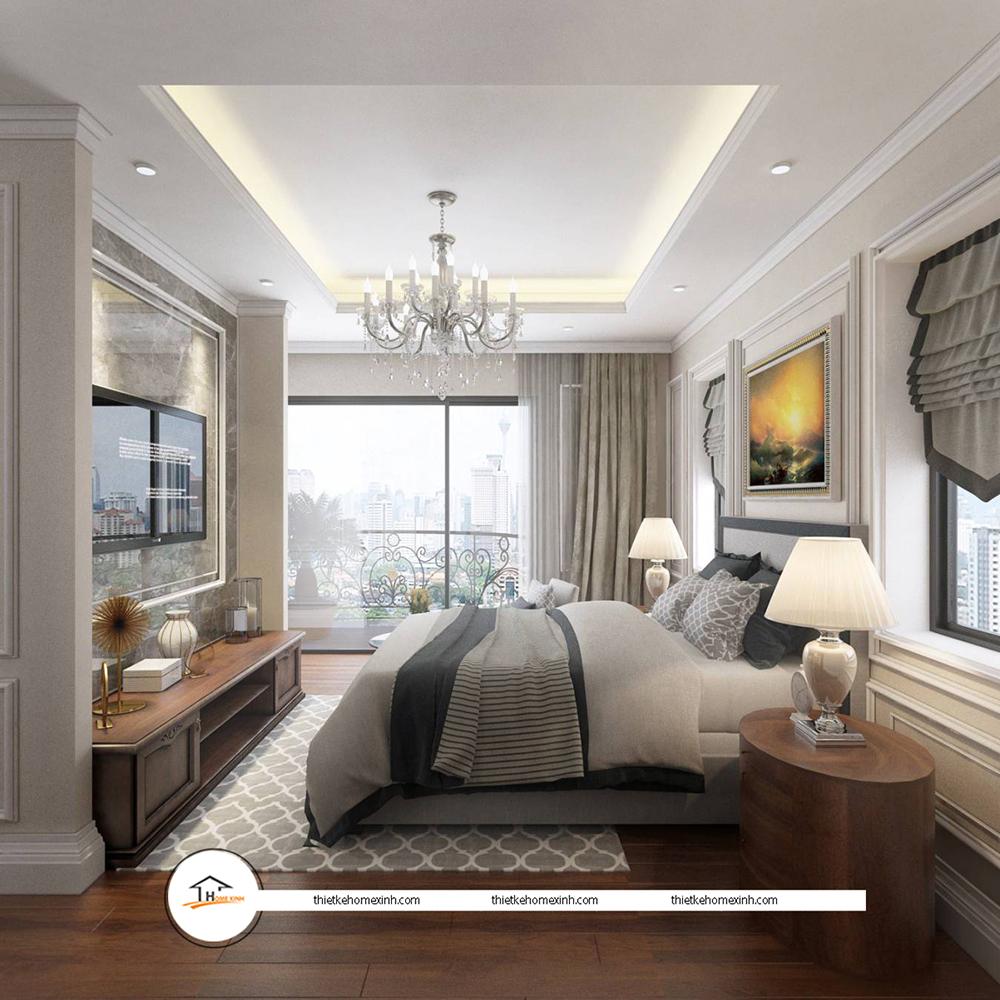 Thiết kế nội thất phòng ngủ hiện đại tại biệt thự Tiên Du, Bắc Ninh - 220123
